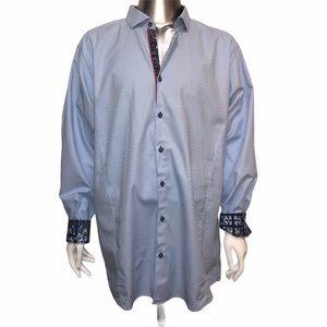 Men's Big and Tall Daniel Hechter Blue Dress Shirt
